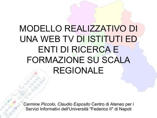 Conferenza GARR 2009 - Presentazione - Piccolo - Esposito