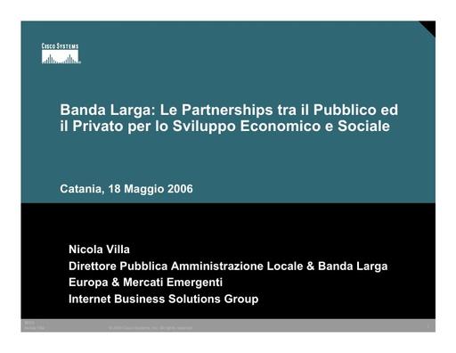 Conferenza GARR 2006 - Presentazione - Villa