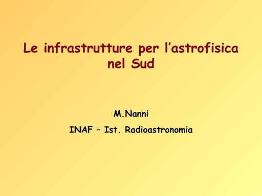 WS12 - presentazione - M. Nanni