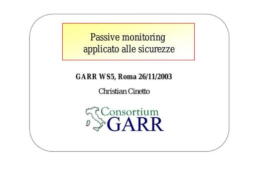 WS05 - presentazione - Cinetto