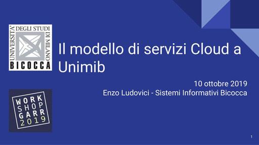 Workshop GARR 2019 - Presentazione - Ludovici