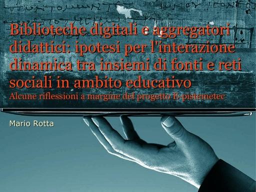 Conferenza GARR 2011 - Presentazione - Rotta M.