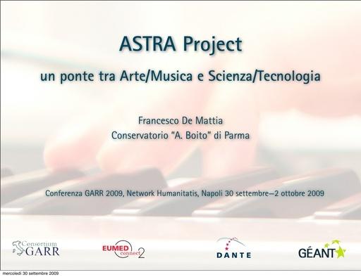 Conferenza GARR 2009 - Presentazione - De Mattia