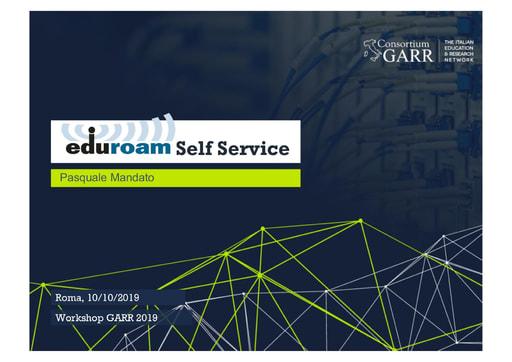 Workshop GARR 2019 - Presentazione - Mandato