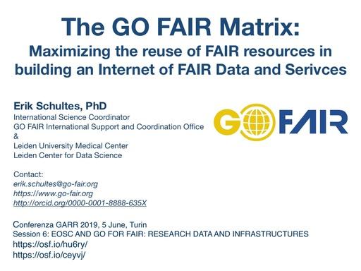 Conferenza GARR 2019 - Presentazione - Schultes