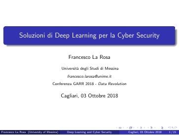 Conferenza GARR 2018 - Presentazione - La Rosa