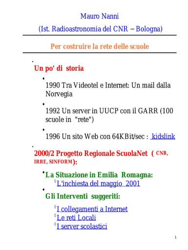 WS04 - Nanni - Per costruire la rete delle scuole