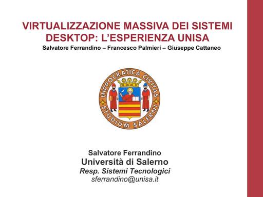 Ws16 - Presentazione - S. Ferrandino