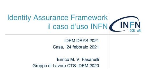 IDEM Day 2021 - Slide - Fasanelli
