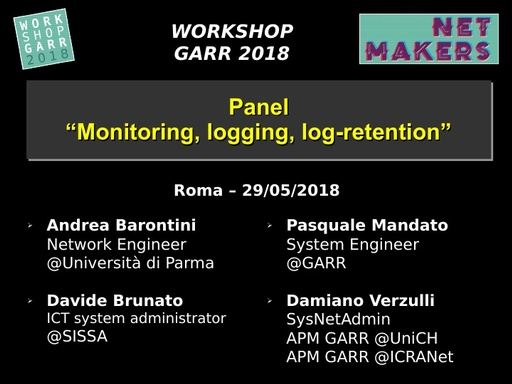 WS18 - D. Verzulli - Monitoring, logging, log-retention