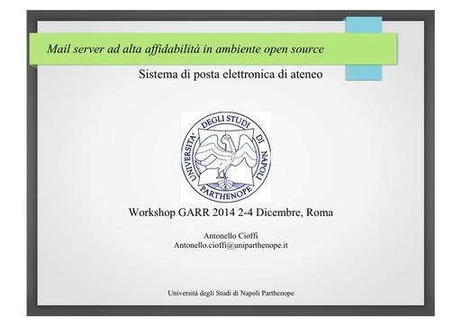 Ws14 - Presentazione - A. Cioffi