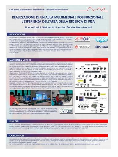 Conferenza GARR 2010 - Poster - Rossini