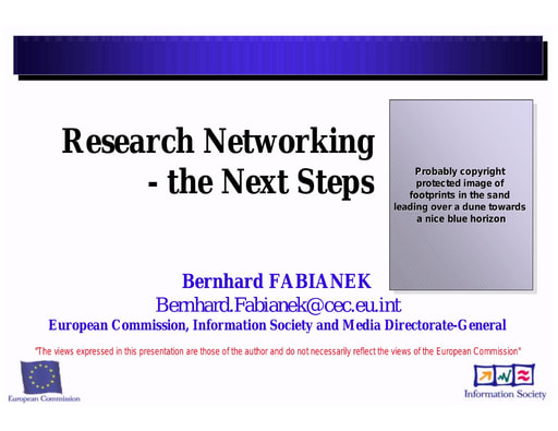 Conferenza GARR 2005 - Presentazione - Fabianek