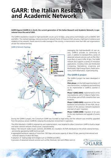 Leaflet GARR Network