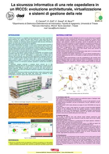 Conferenza GARR 2010 - Poster - Bava