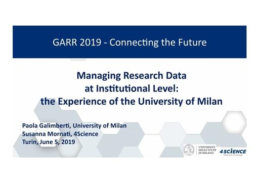 Conferenza GARR 2019 - Presentazione - Mornati