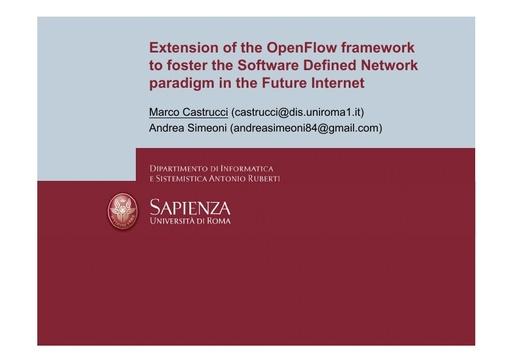 Conferenza GARR 2011 - Presentazione - Castrucci M. - Simeoni A.