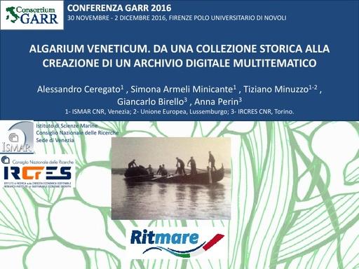Conferenza GARR 2016 - Presentazione - Ceregato
