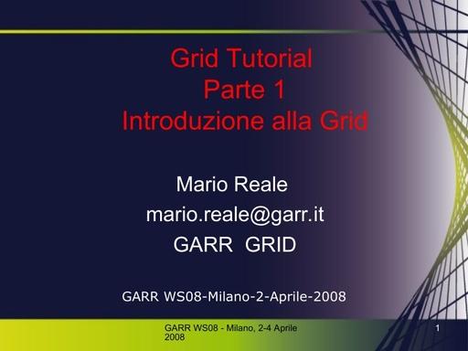 Ws08 - Presentazione - Reale - Tutorial parte 1