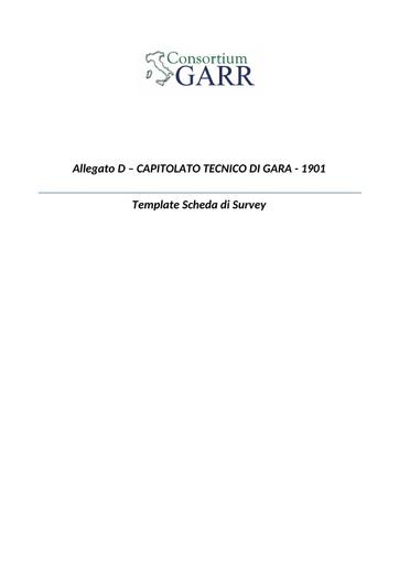 Bando 1901 - Allegato D - Template Scheda di Survey - docx