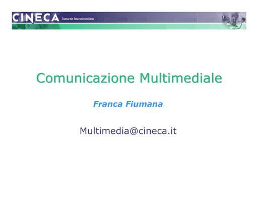 WS04 - Fiumana - Comunicazione Multimediale