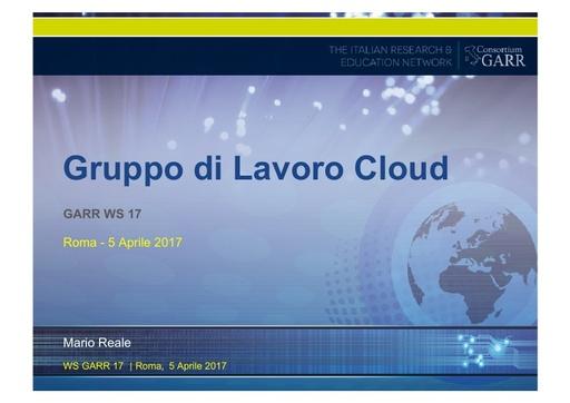 Ws17 - Presentazione - GdL Cloud - Reale
