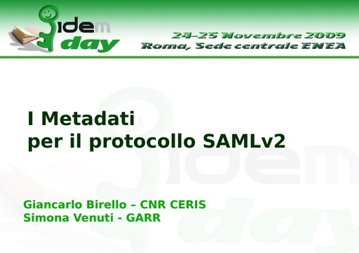 I IDEM Day - presentazione - Birello - Venuti