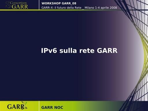 Ws08 - Presentazione - GARR Noc - ppt