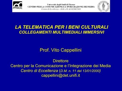 Conferenza GARR 2007 - Presentazione - Cappellini