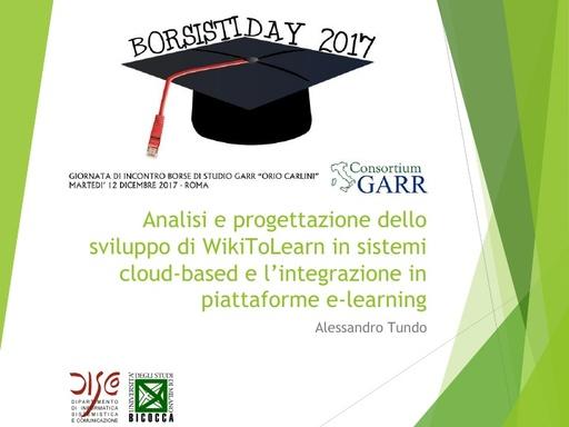 Borsisti Day 2017 - Alessandro Tundo