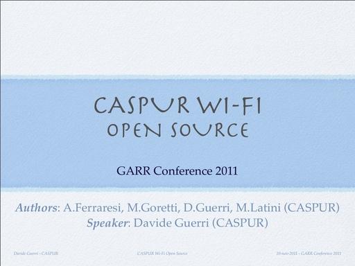 Conferenza GARR 2011 - Presentazione - Guerri D.