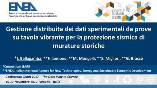 Conferenza GARR 2017 - Presentazione - Bellagamba