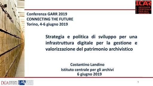 Conferenza GARR 2019 - Presentazione - Landino