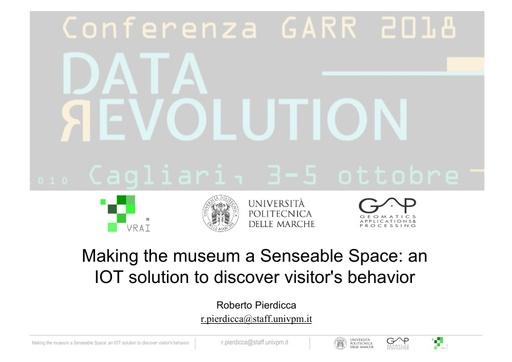 Conferenza GARR 2018 - Presentazione - Pierdicca
