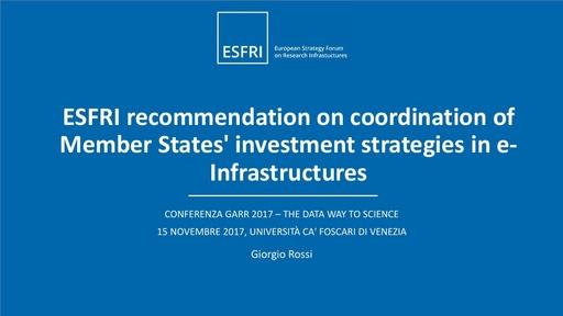 Conferenza GARR 2017 - Presentazione - Rossi