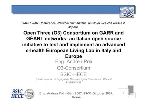 Conferenza GARR 2007 - Presentazione - Poli