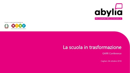 Conferenza GARR 2018 - Presentazione - Zucchetti