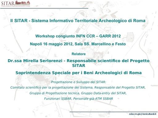 WS12 - presentazione - M. Serlorenzi