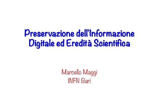 WsCSD12 - Presentazione - M. Maggi