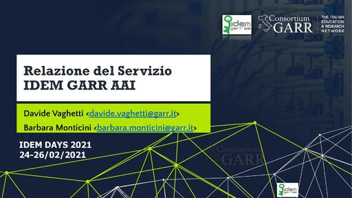 IDEM Day 2021 - Slide - Vaghetti