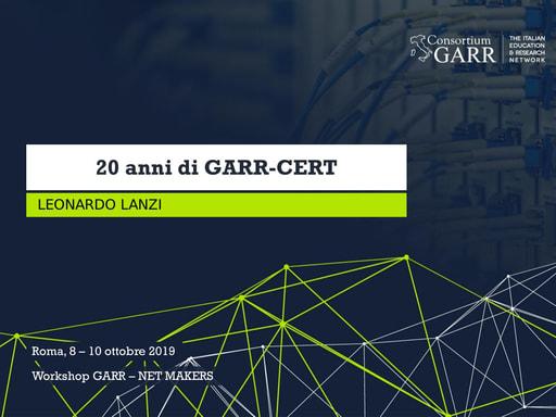Workshop GARR 2019 - Presentazione - Lanzi
