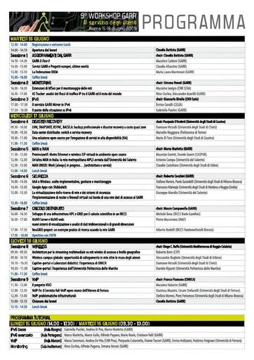Ws09 - Programma del Workshop