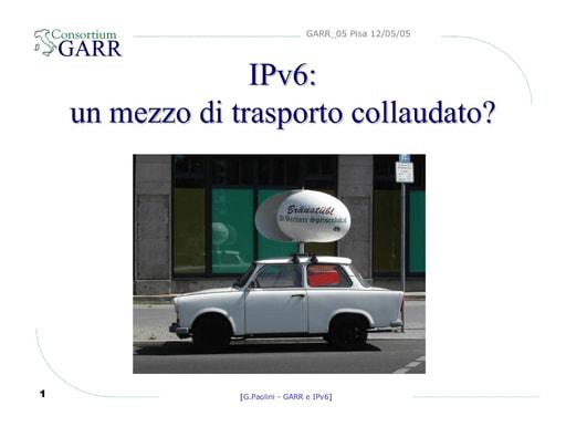 Conferenza GARR 2005 - Presentazione - Paolini