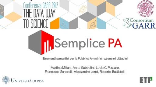 Conferenza GARR 2017 - Presentazione - Miliani