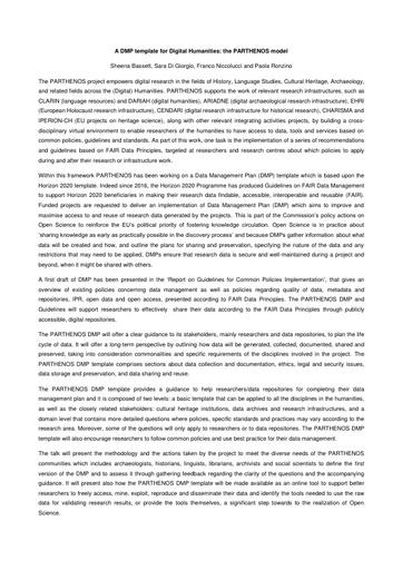 Conferenza GARR 2017 - Paper - Niccolucci