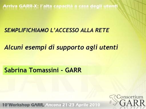 WS10 - Tomassini - Semplifichiamo l'accesso alla rete