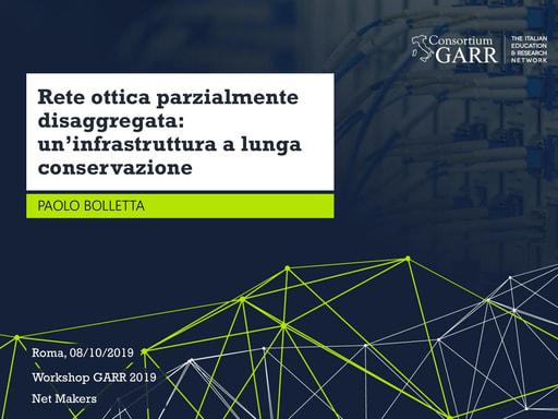 Workshop GARR 2019 - Presentazione - Bolletta