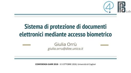 Conferenza GARR 2018 - Presentazione - Orrù