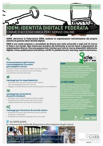 IDEM: Identità digitale federata