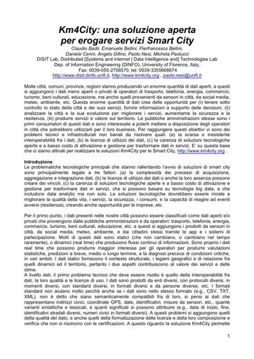 Conferenza GARR 2016 - Paper - Nesi